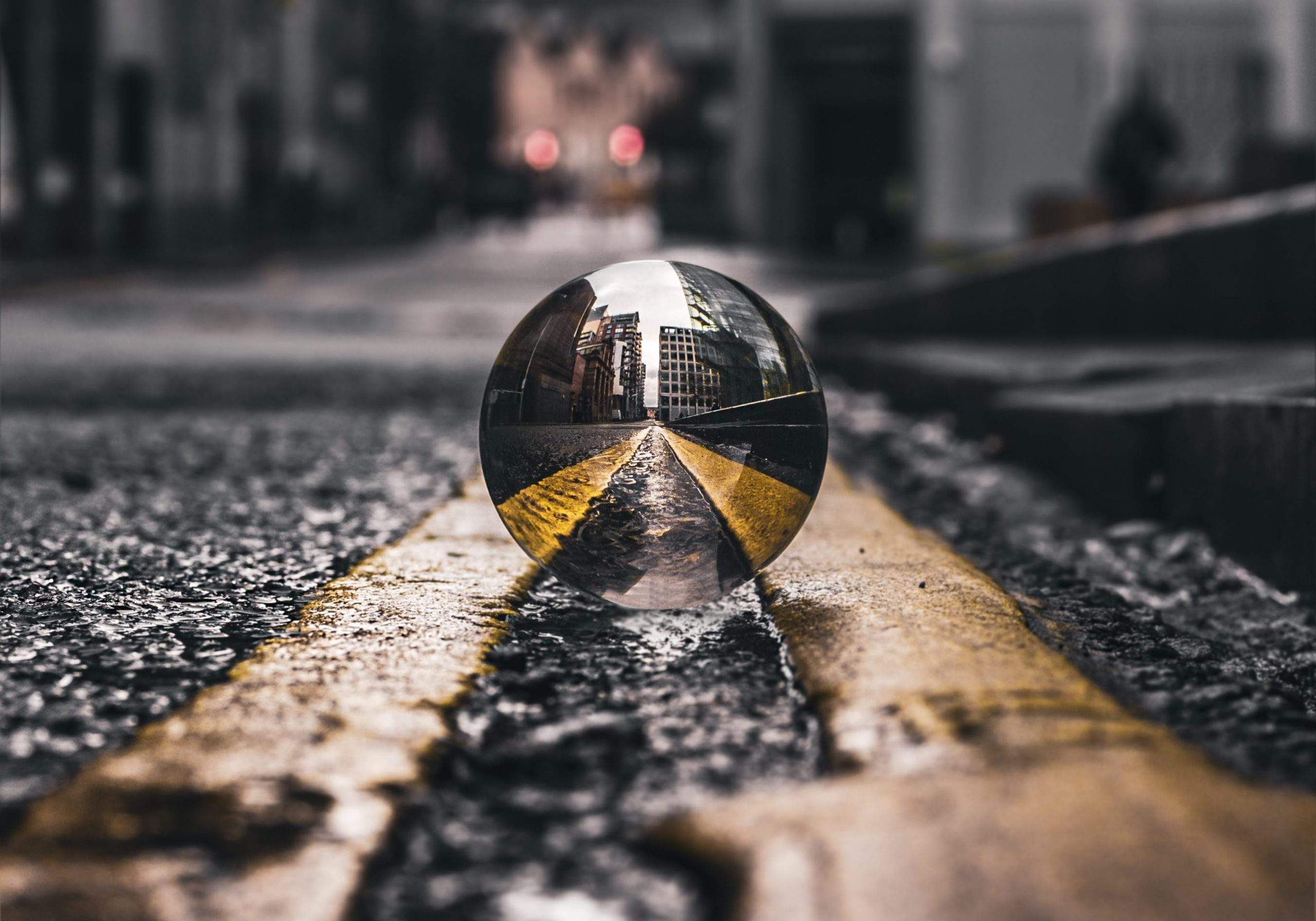 selective-focus-photo-of-lensball-on-asphalt-road-2251798-landscape